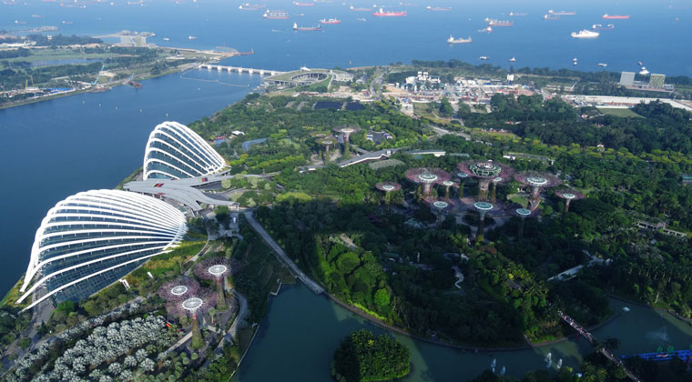 Blick auf Gardens by the Bay
