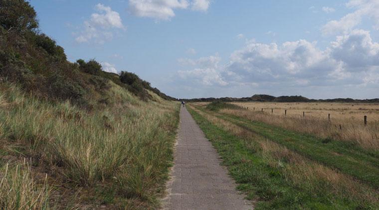 endlose Fahrradwege auf Langeoog