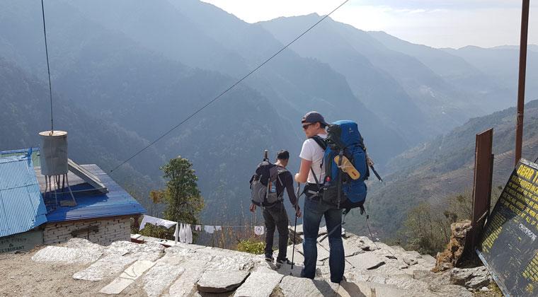 Auf dem Trek – der Guide kennt den Weg