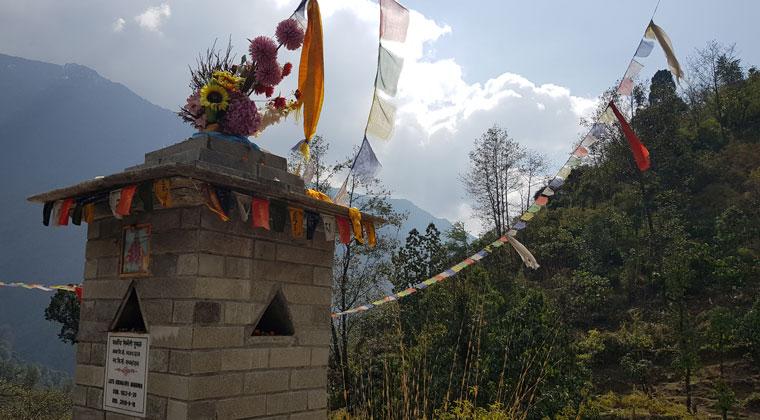kleiner Tempel auf dem Trek