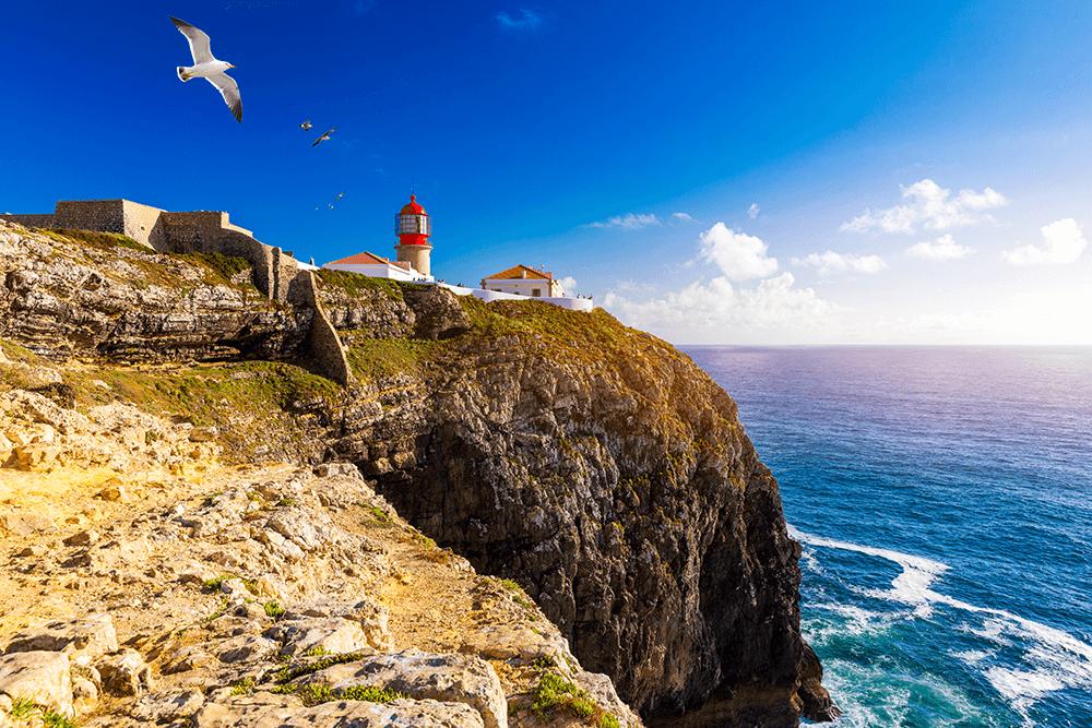 Leuchtturm von Cabo Sao Vicente.