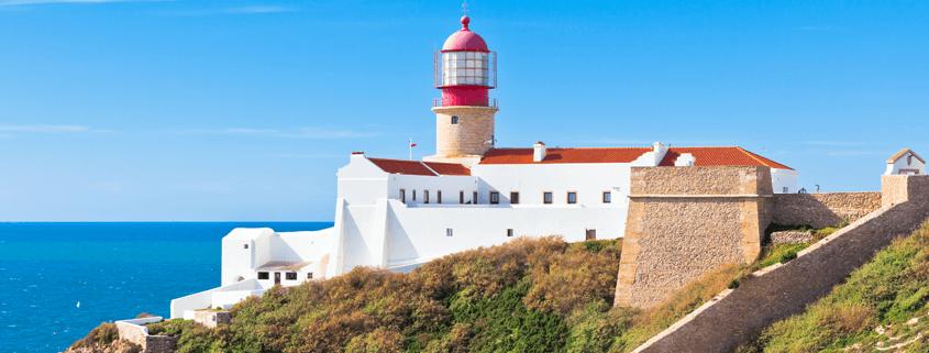 Leuchtturm von Cabo Sao Vicente Portugal