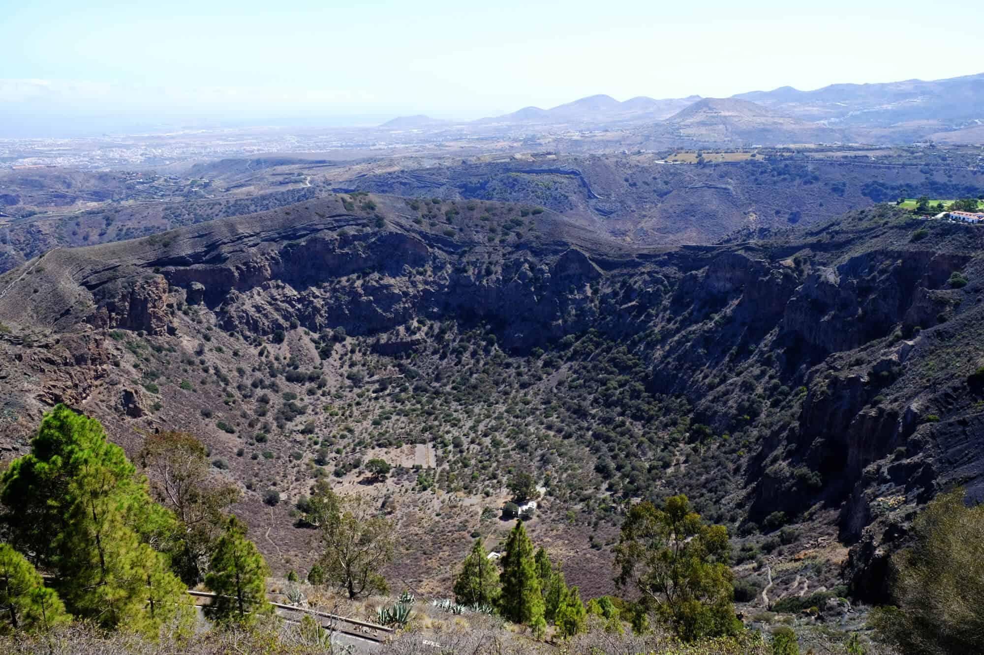 Blick in den Bandama-Krater