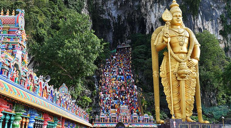 Batu-Caves bei Kuala Lumpur