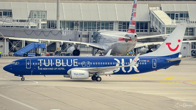 TUI Blue auf dem Vorfeld in München.