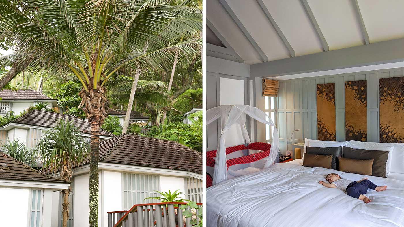 Schlafen unter Palmen im The Surin Phuket