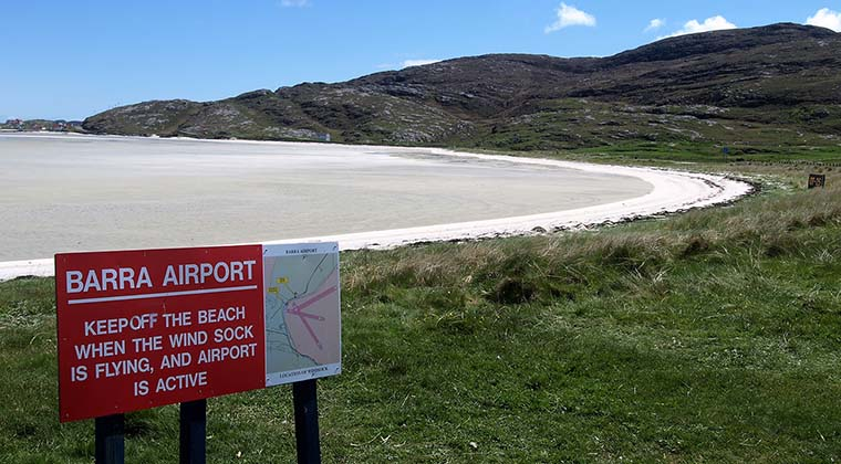 Barra Airport in Schottland