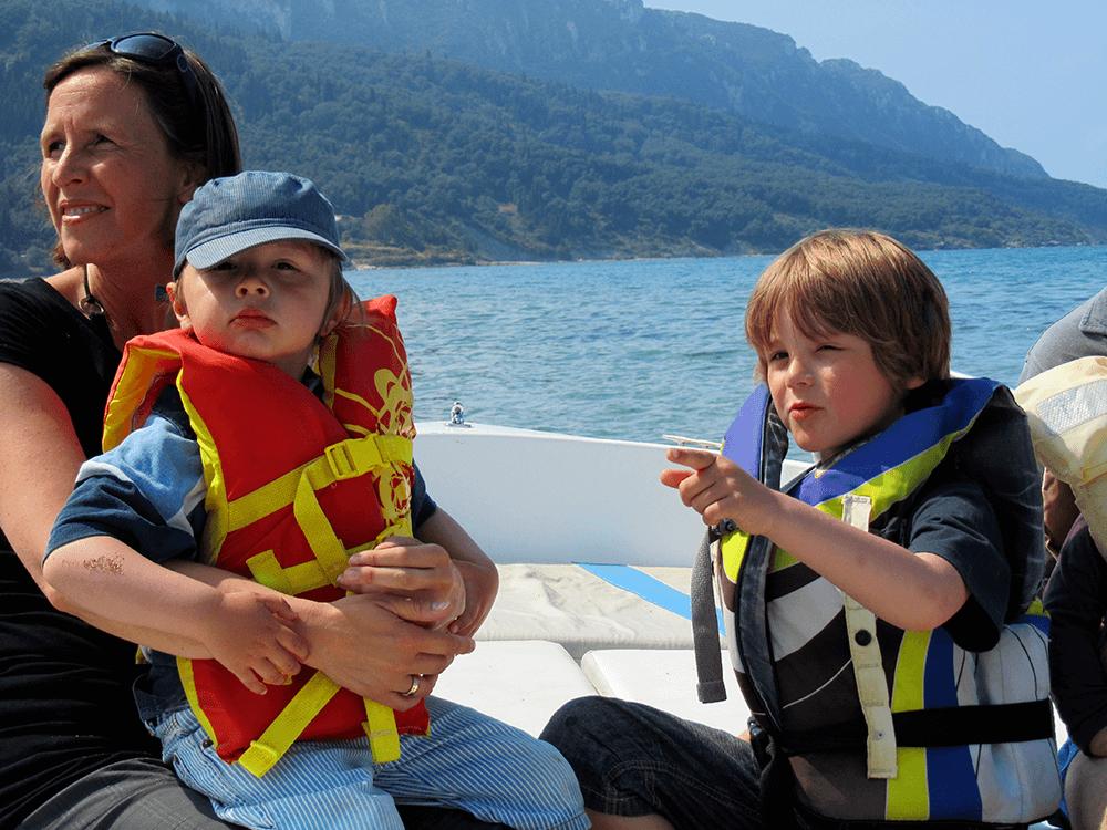 Taxiboot auf Korfu