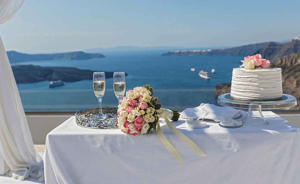 Hochzeitslocation in Griechenland mit Blick aufs Meer