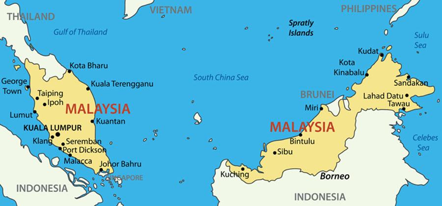 Malaysia Karte