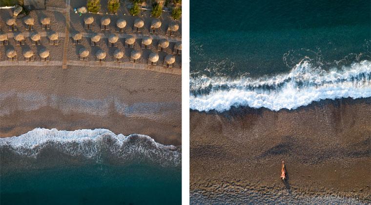 Drohnenbild Rhodos Meer