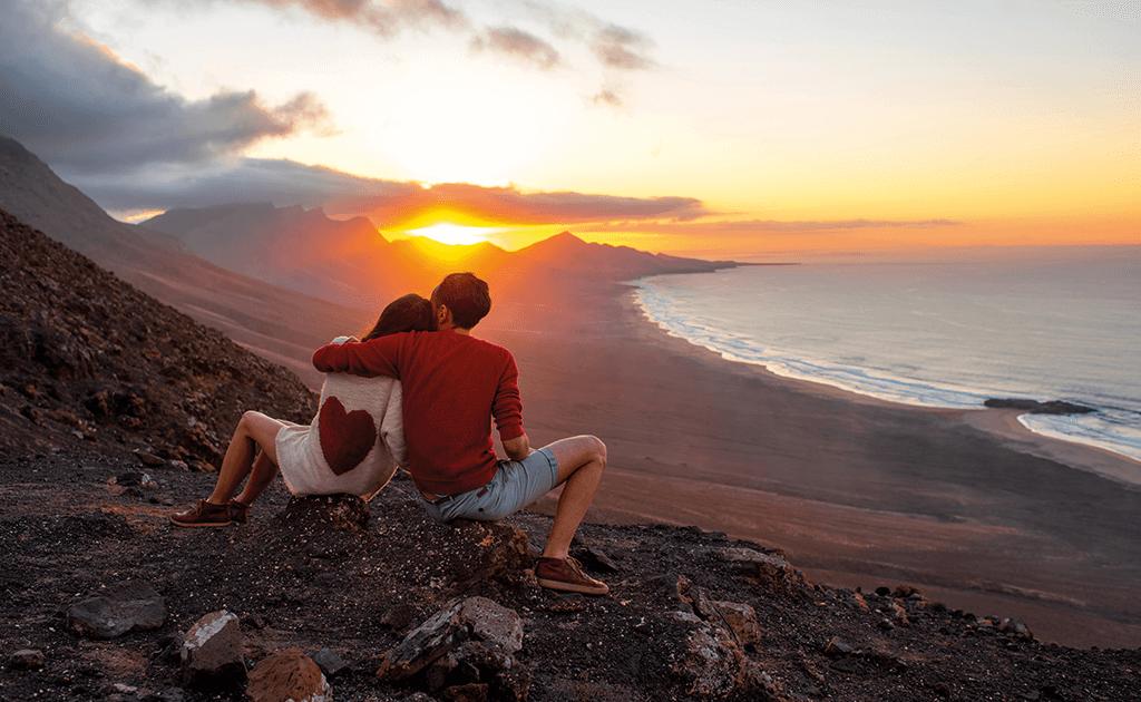 Der Sonnenuntergang auf Fuerteventura, ideal zum heiraten