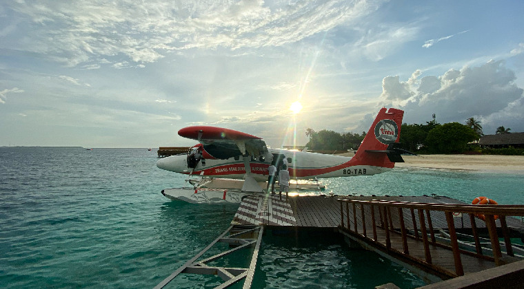 Wasserflugzeug auf den Malediven