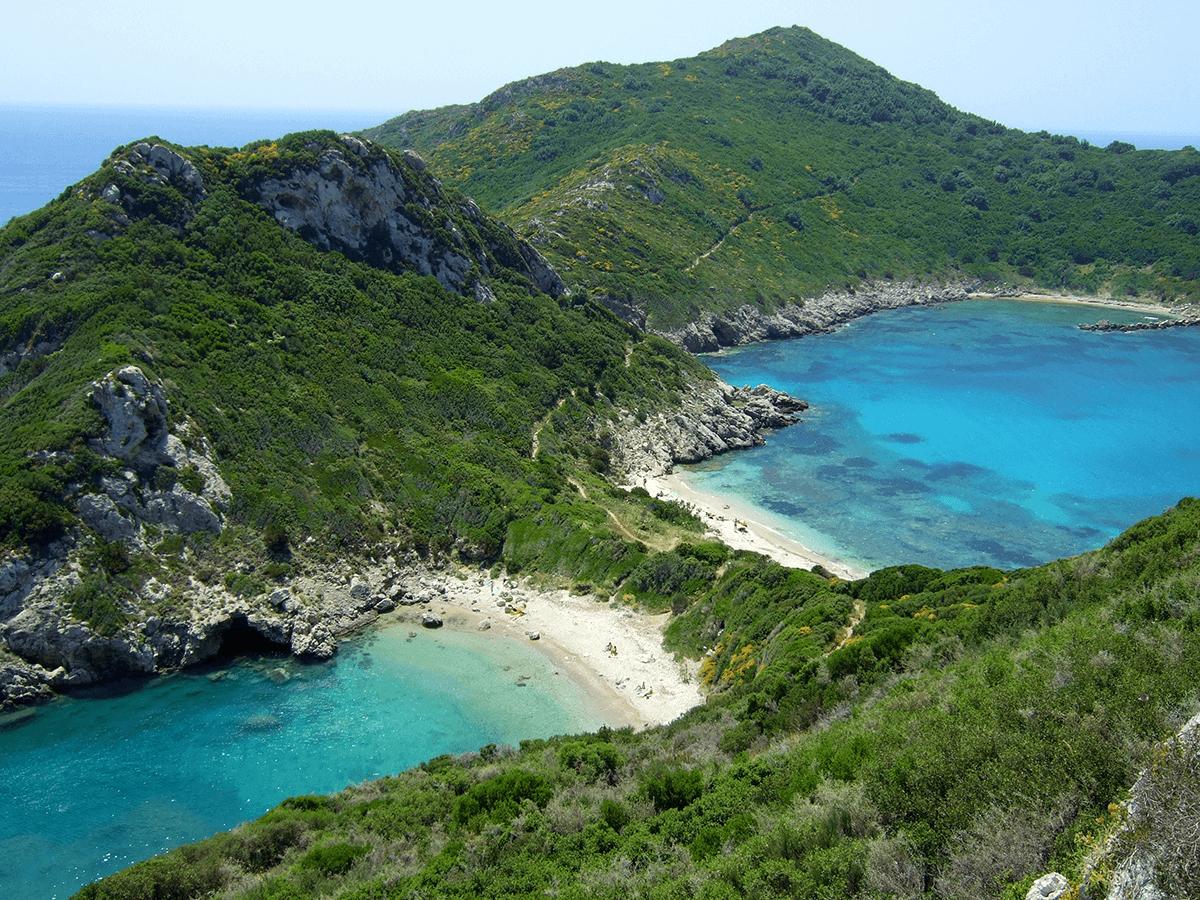 Zwillingsbucht auf Korfu