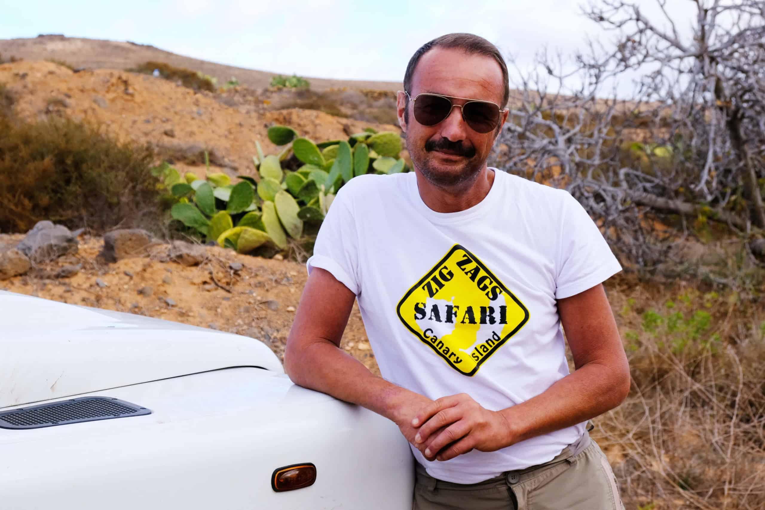 Antonios Familie lebt seit vielen Generationen auf der Insel. Heute ist er mein Guide und Jeep-Fahrer.