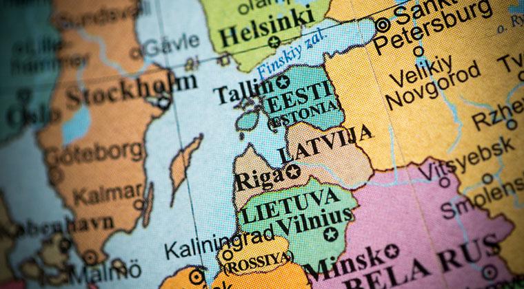 Baltikum auf der Karte