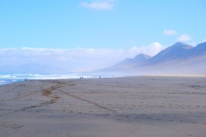 Atemberaubender Blick auf Cofete Beach. Hier wurde Star Wars gedreht.
