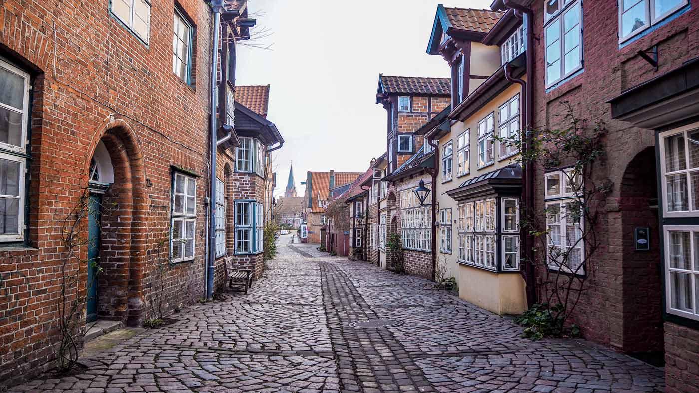 Eine der schönen Gasse in Lüneburg