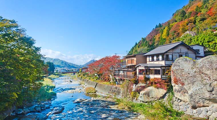 Yamadera Stadt in der Region Tohoku