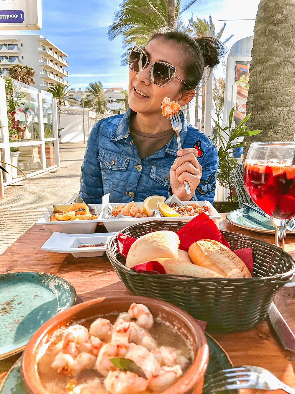 Mittagessen im Linos 2 in Palma
