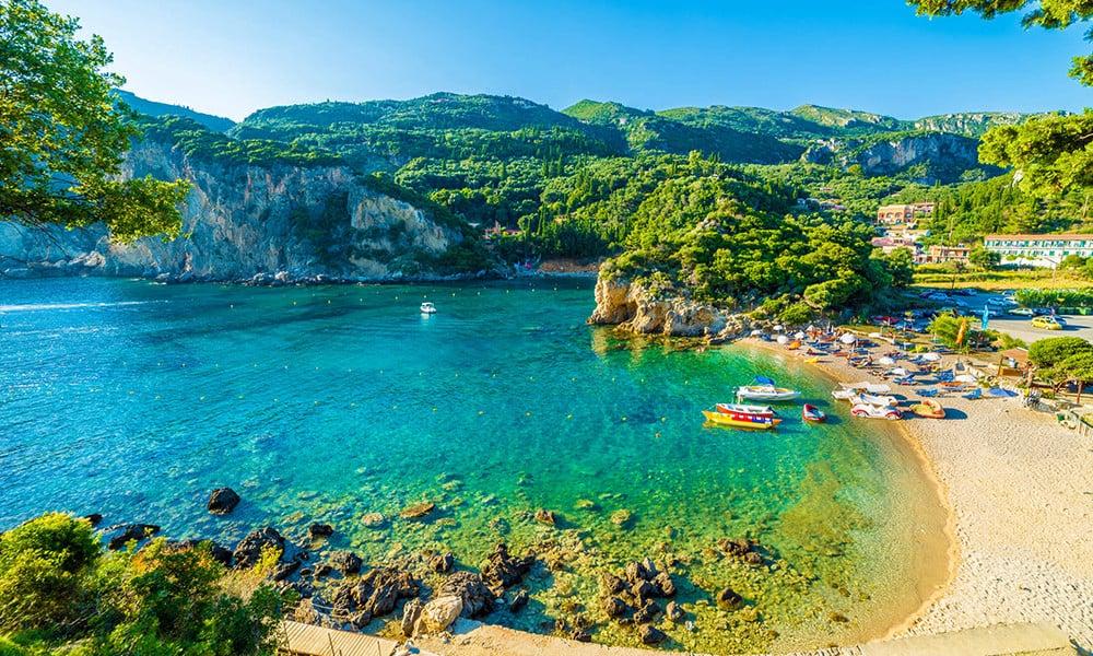 Die grüne Insel Korfu.