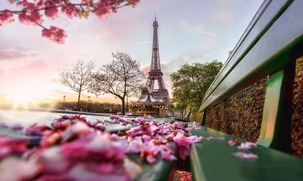 Der Eiffelturm im Frühling