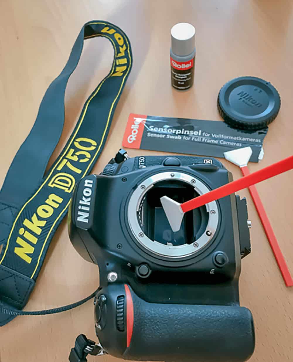 Sensorreinigung der Kamera. Flugzeuge fotogriafieren