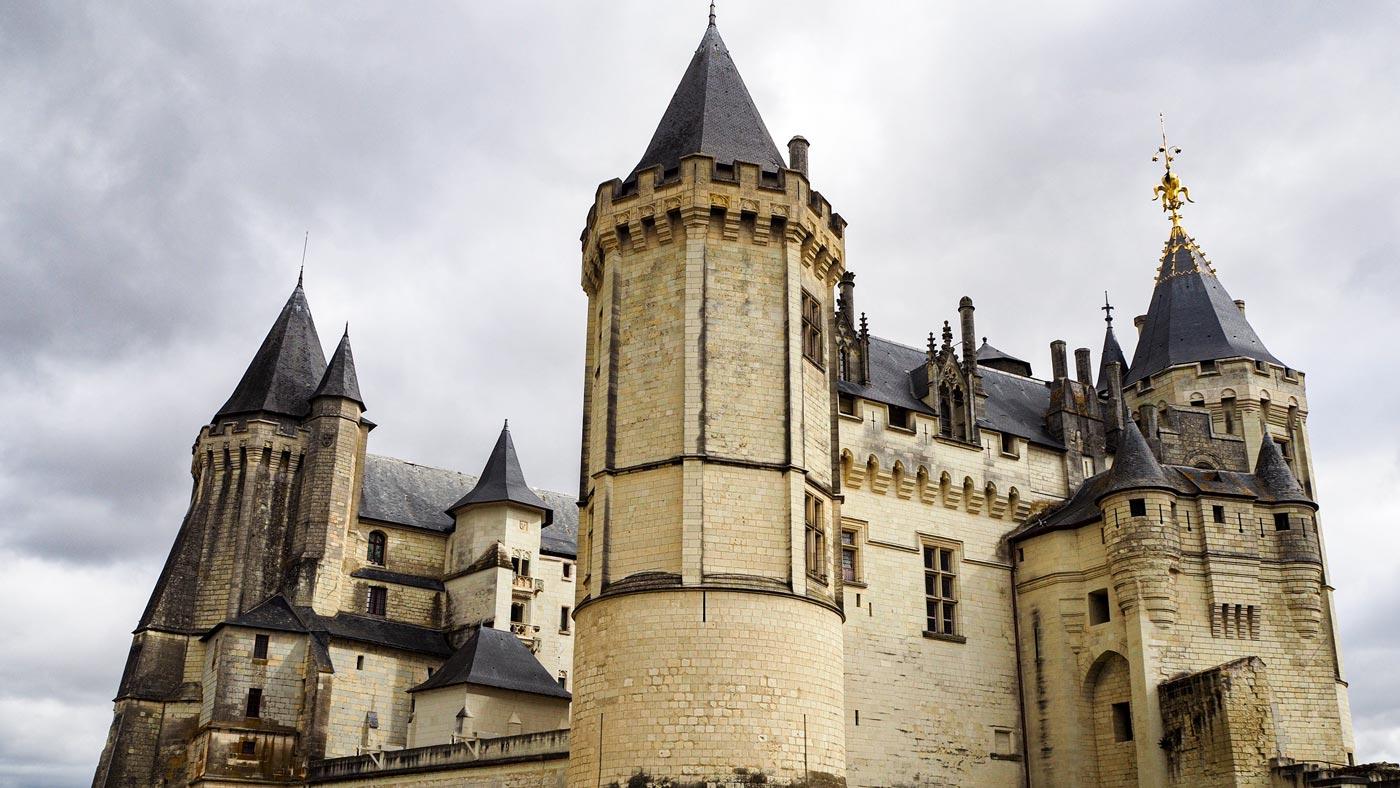 Das Schloss in Saumur von außen