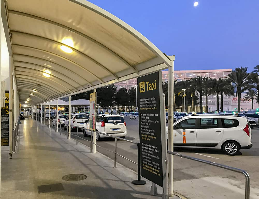 Taxistand am Airport Mallorca