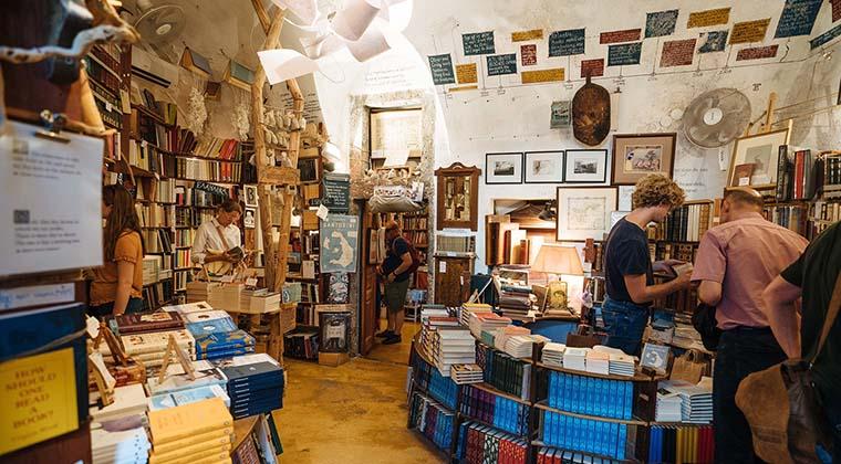 Atlantis Bookstore auf Santorin