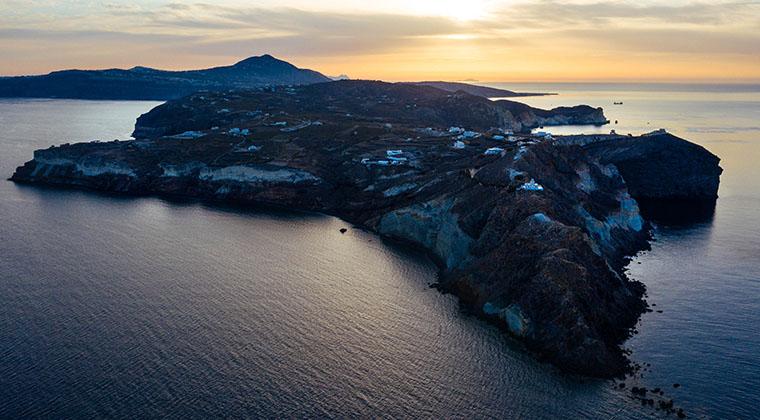 Blick auf Santorin
