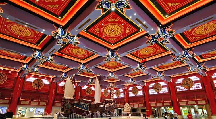 Eine Tour durch die Ibn Battuta Mall ist eine Reise durch unterschiedliche Themenbereiche (Credit: Ibn Battuta Mall)