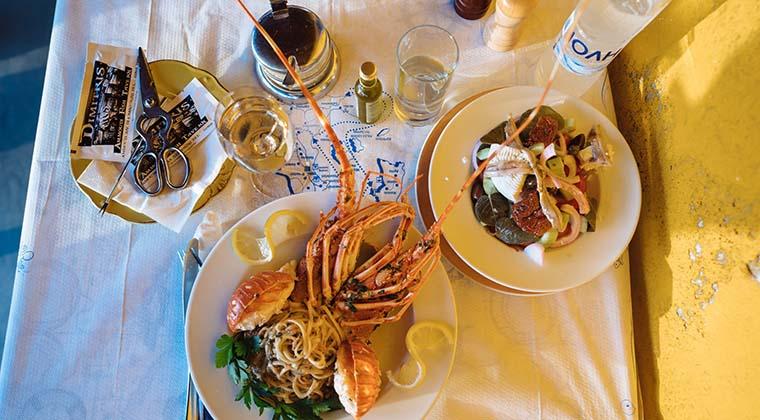 Meeresfrüchte Santorin