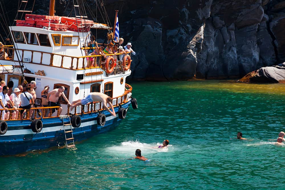 Palea Kameni bei Santorini Griechenland