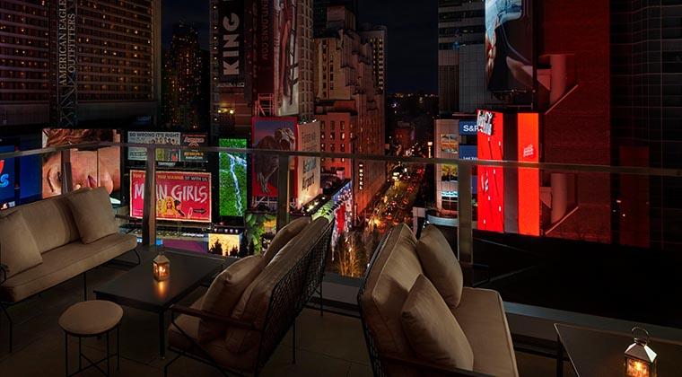 The Times Square EDITION_Lobby Terrace 2_Credit Nikolas Koenig