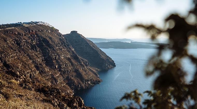vulkanisches Santorin