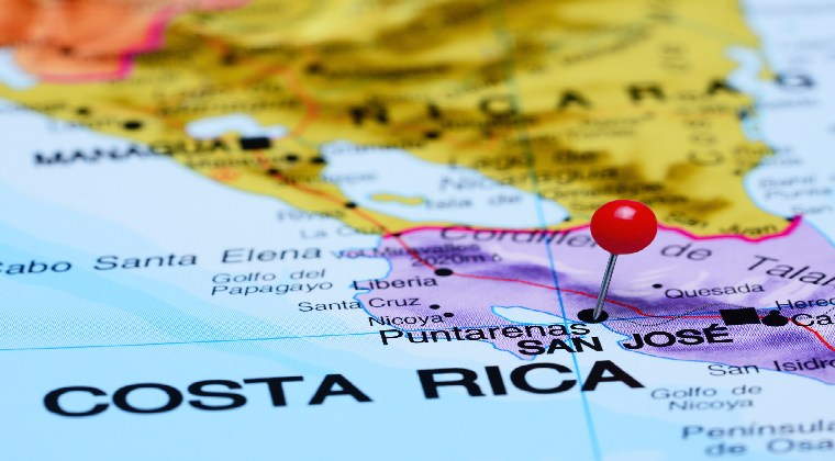 Costa Rica Karte