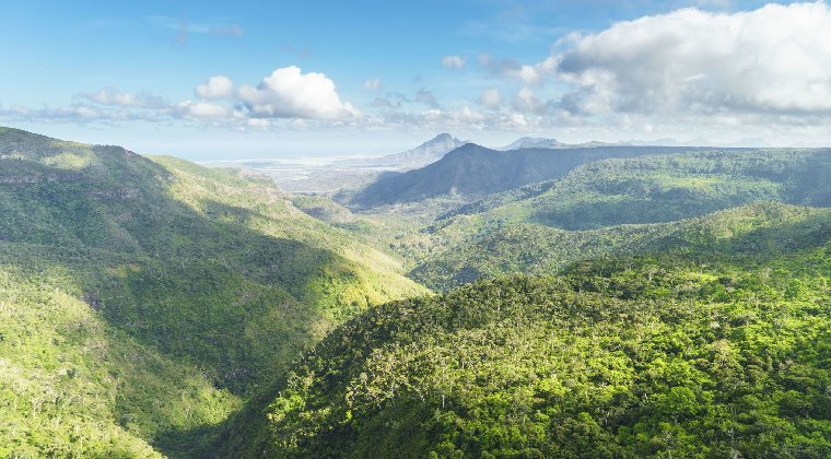 Mauritius Blick über die Insel