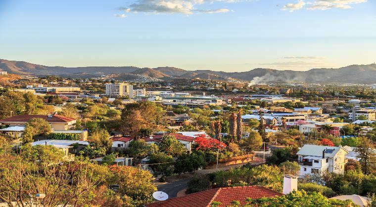 Blick über Windhoek Namibia