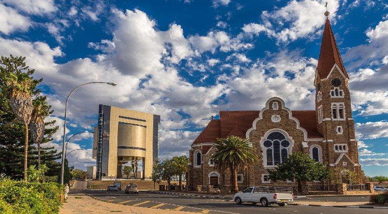 Die Christuskirche Wahrzeichen Namibia
