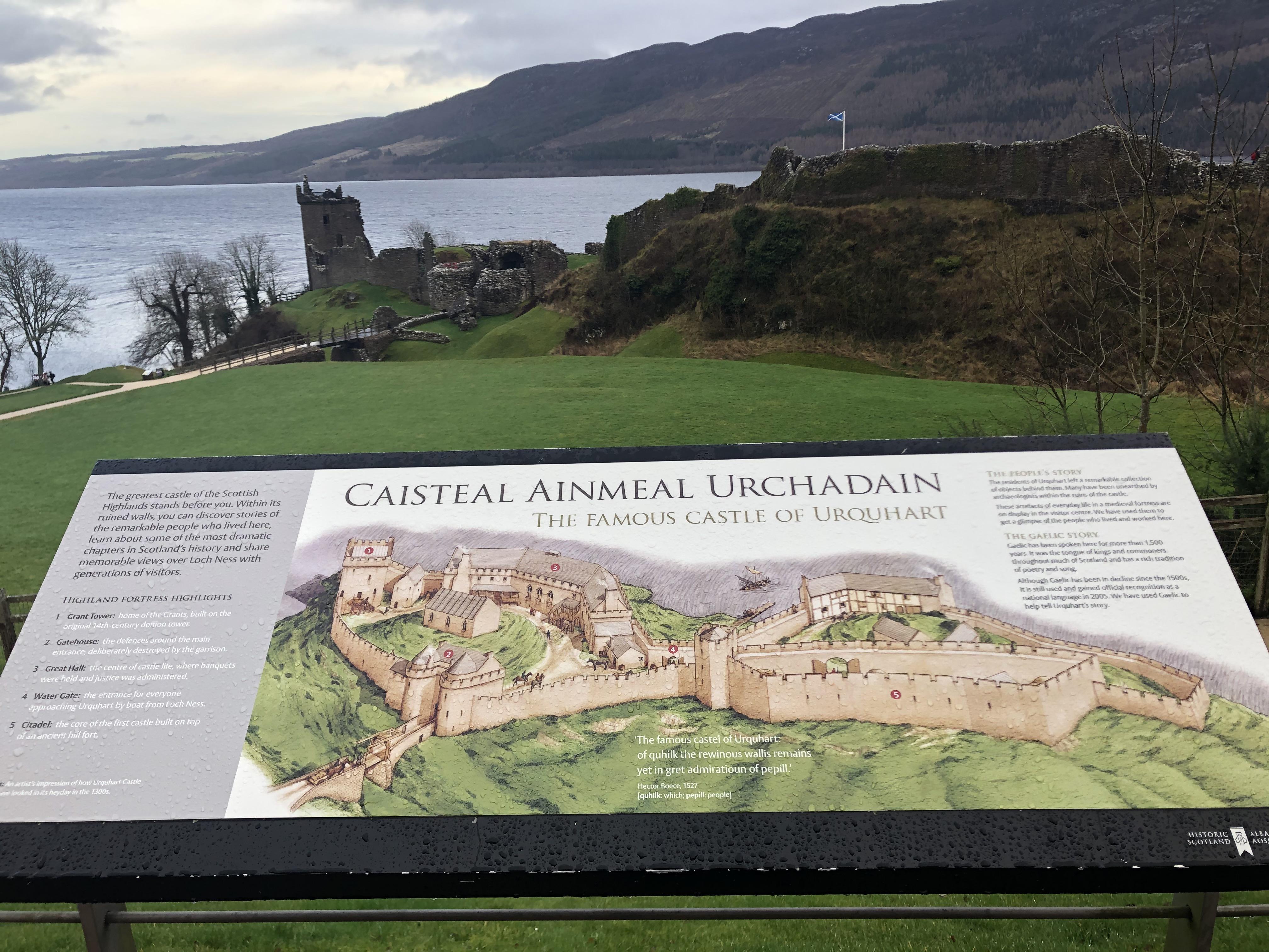 Urquhart Castle Burgplan