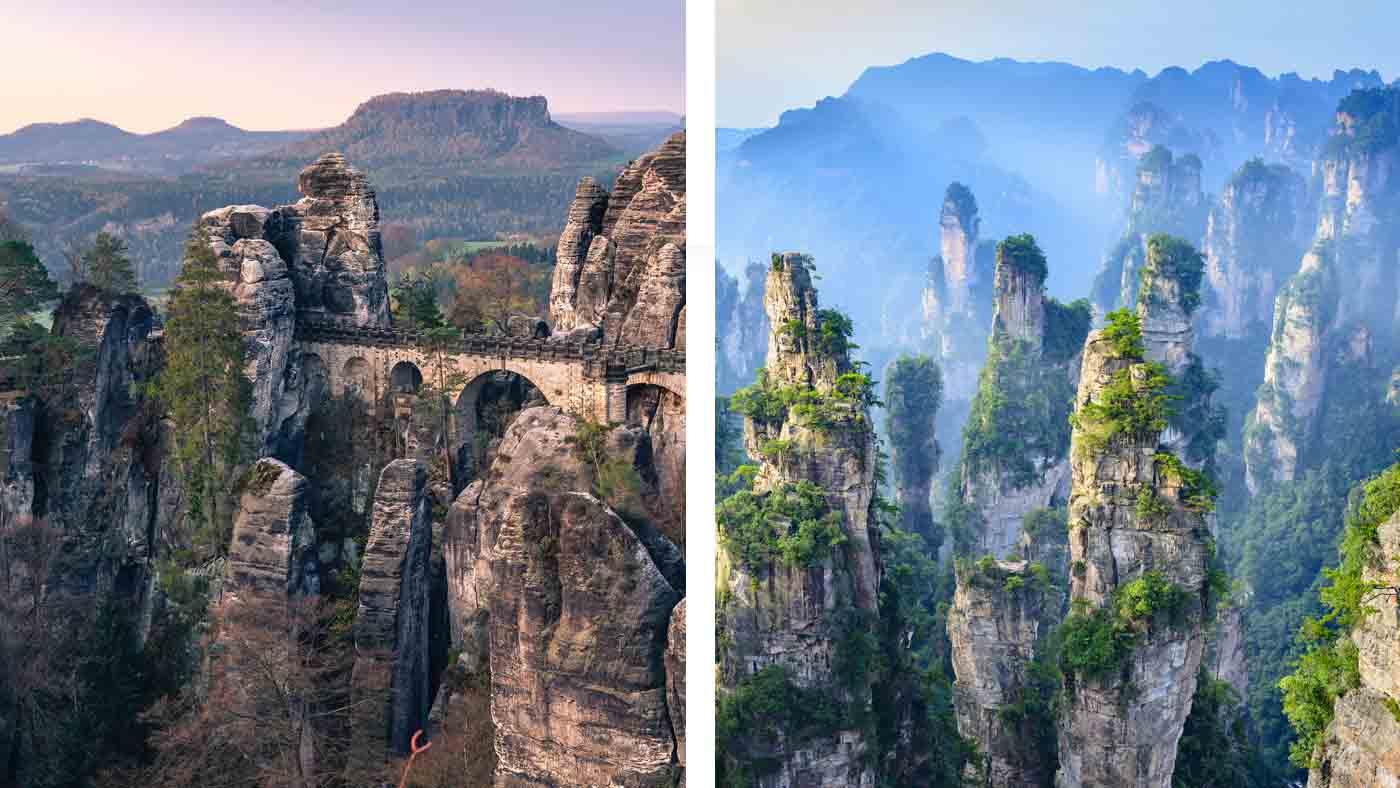 Basteibrücke und Zhangjiajie National Forest Park