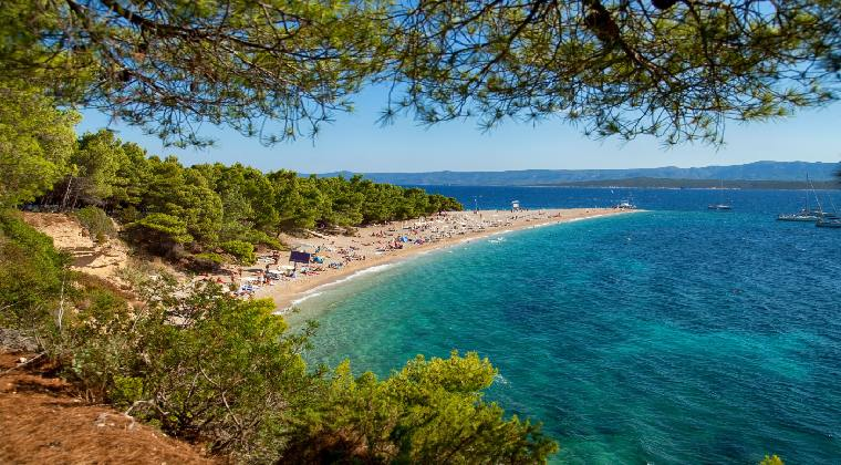 Strand Goldenes Horn Kroatien