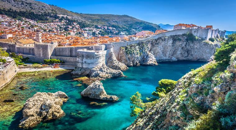 Wunderschöne Altstadt von Dubrovnik in Kroatien