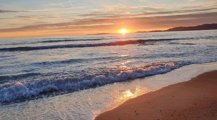 Der Playa de Palma beim Sonnenuntergang