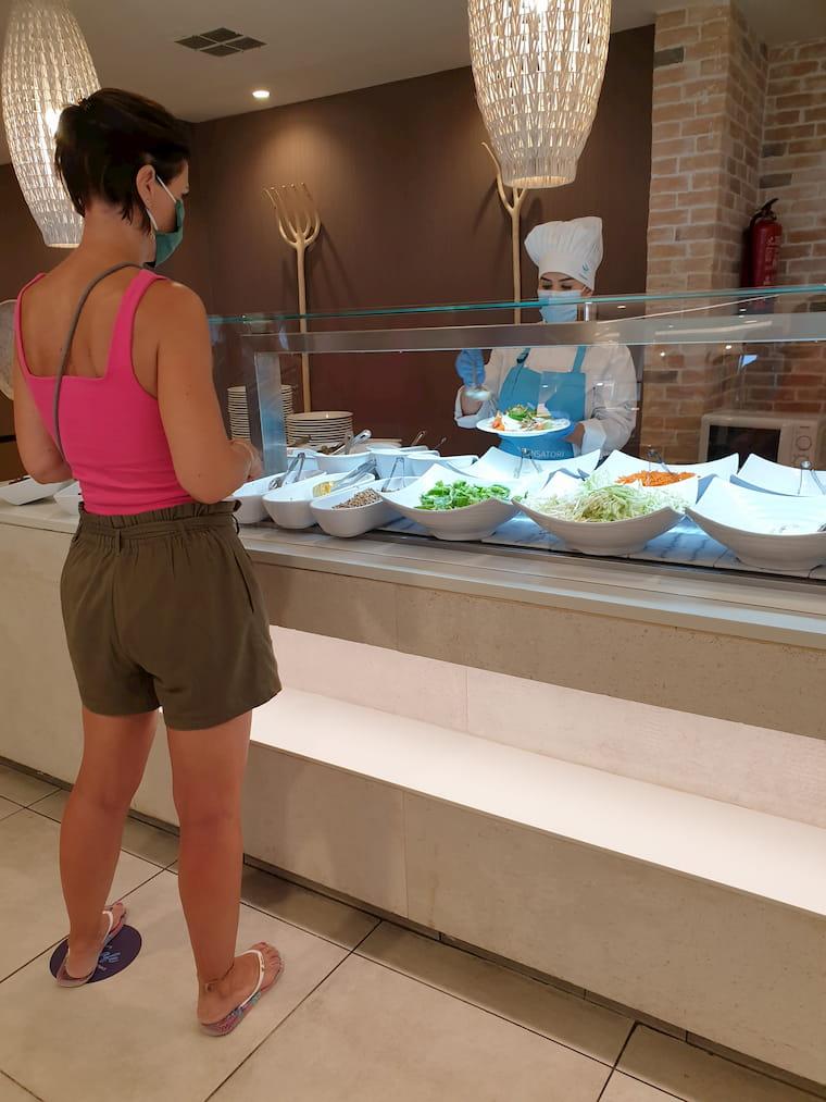 Salat Buffet in Zeiten von Corona