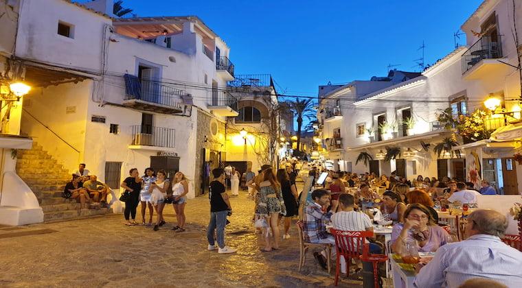 Ibiza Stadt am Wochenende