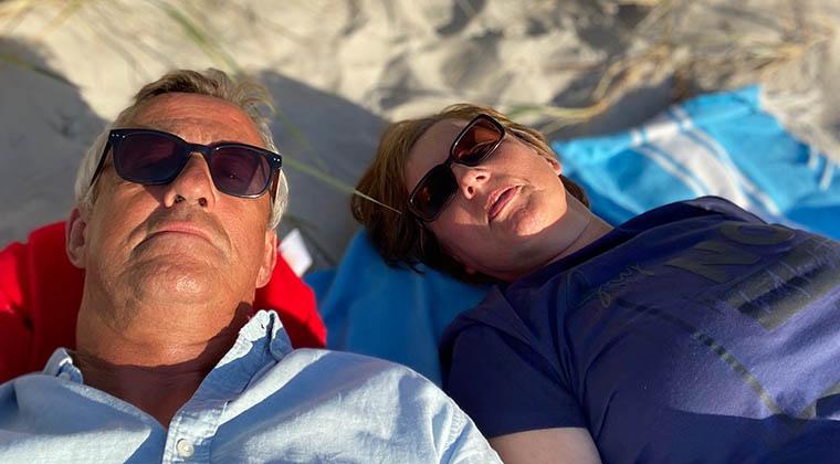 Entspannt am Strand