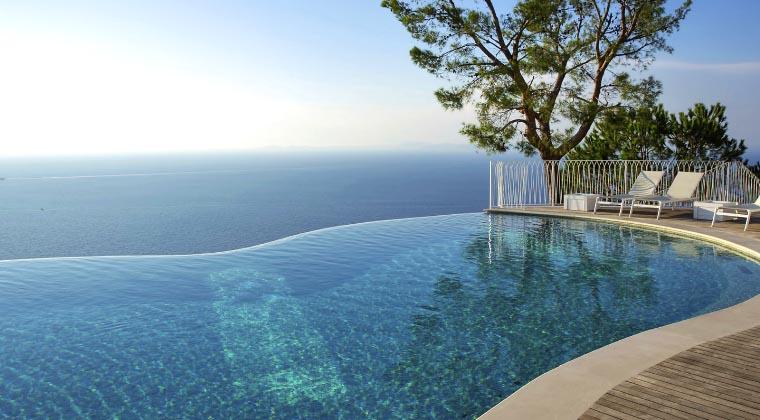 Pool im Relais Blu