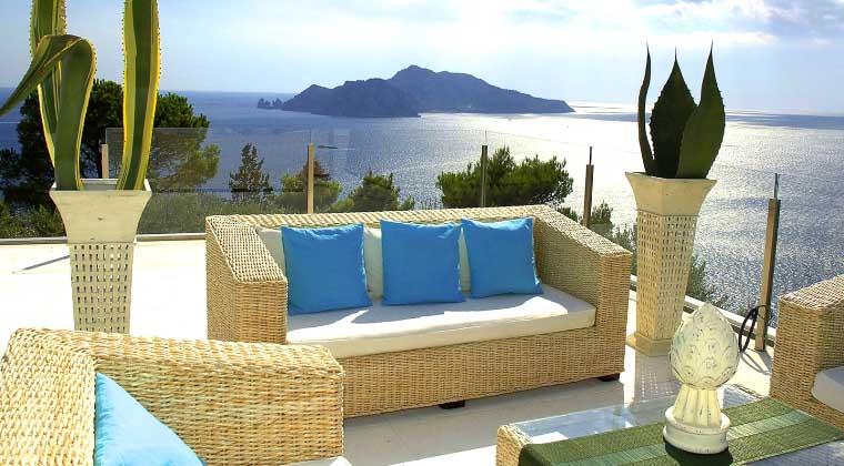 Die gigantische Aussicht auf Capri
